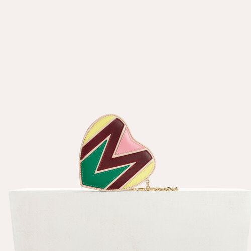 Herztasche aus gepolstertem Leder : Star Taschen farbe Mehrfarbigen