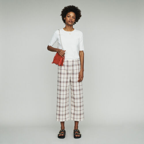 Weite Hose mit Karos : Hosen & Jeans farbe CARREAUX