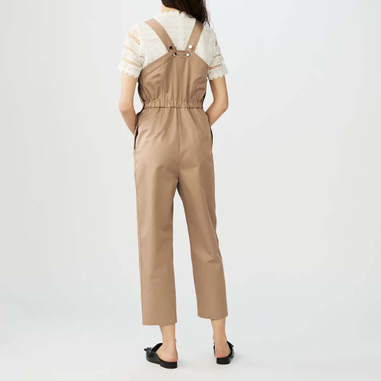 Latzhose aus Baumwolle : Jumpsuits farbe Beige