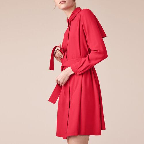 Hemdkleid aus Krepp - Kleider - MAJE