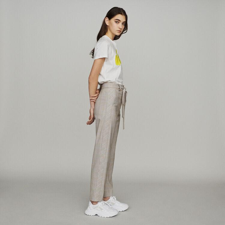 Karo-Hose mit Gürtel : Hosen & Jeans farbe CARREAUX