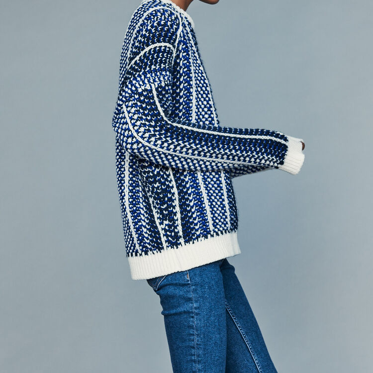 Pullover aus Jacquard-Strick : Neue Kollektion farbe Blau