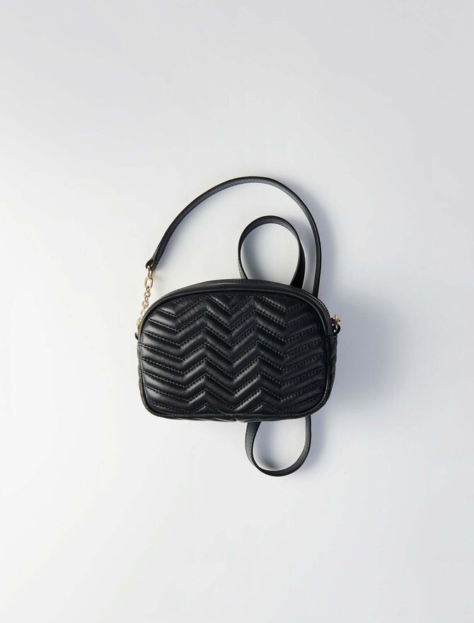 Schultertasche aus gestepptem Leder - Sami bag - MAJE