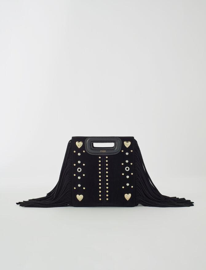 M Mini-Wildledertasche mit Herznieten - Alles sehen - MAJE