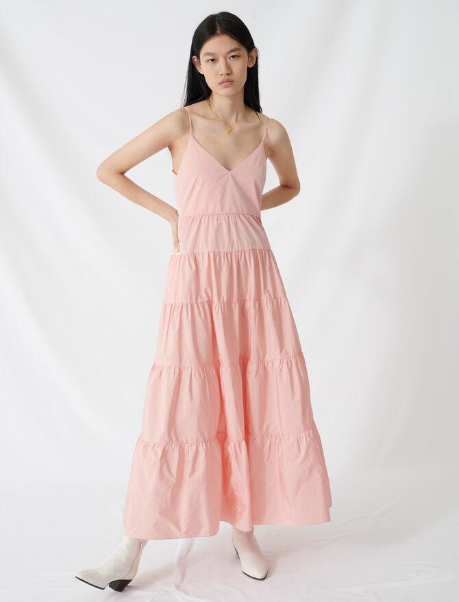 Maxi-Kleid aus Taft mit schmalen Trägern - Die ganze Kollektion - MAJE