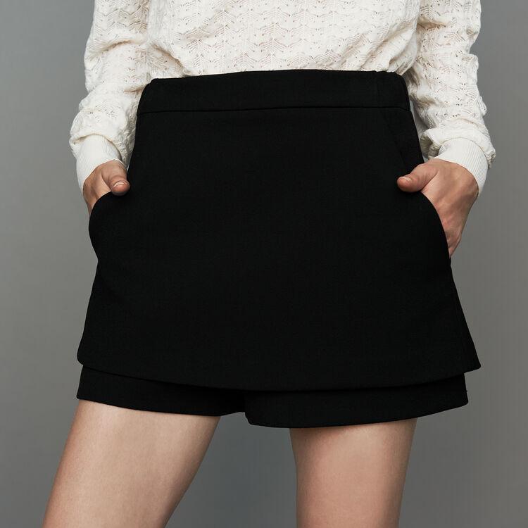 Short-Rock aus Krepp : Röcke & Shorts farbe Schwarz