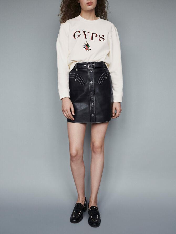 Sweatshirt mit Stickereien - Pullover & Strickjacken - MAJE