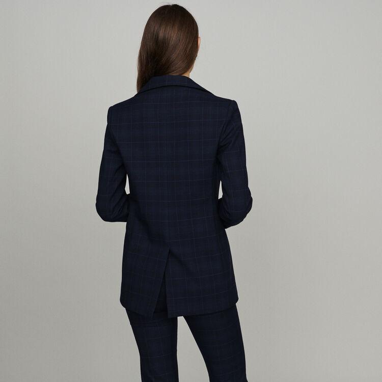 Karoblazer : Blazers farbe Marineblau