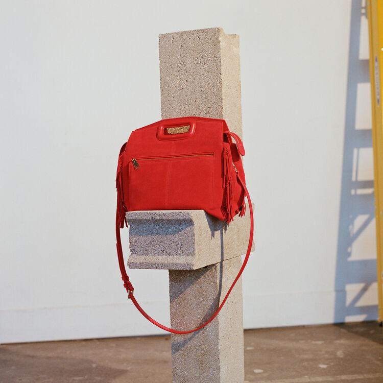 MWALK-Tasche mit Lederfransen : M Walk farbe Rot