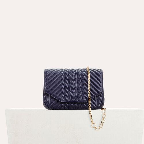 Abendtasche aus gestepptem Leder : Tout voir farbe Marineblau
