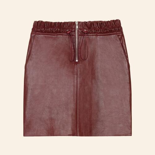 Lederrock mit Reißverschluss - Röcke & Shorts - MAJE