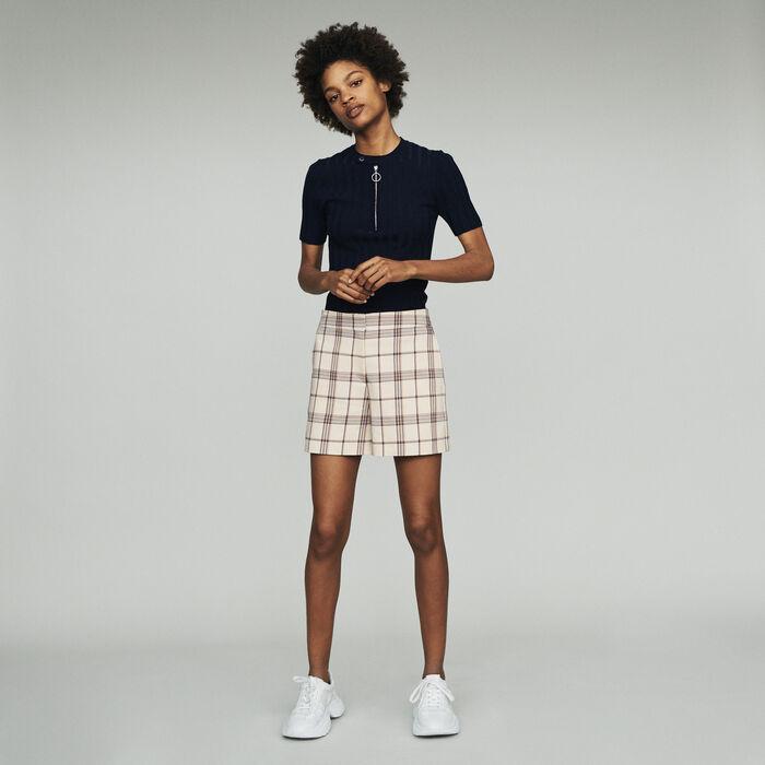 Shorts mit Karos : Röcke & Shorts farbe CARREAUX