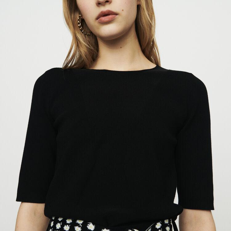 Pullover mit kurzen Ärmeln : Pullover & Strickjacken farbe SCHWARZ