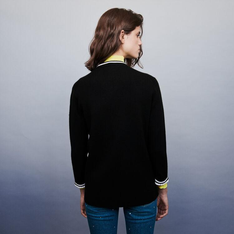 Cardigan mit Schmuckstücken : Pullover & Strickjacken farbe Schwarz