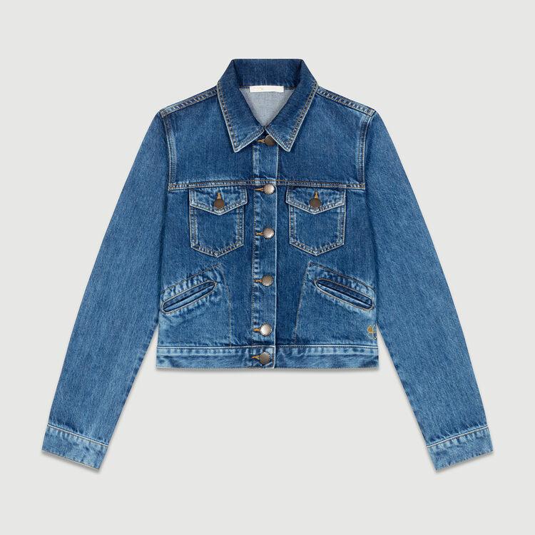 Ausgestellte 7/8-Jeans mit Druckknöpfen : Blazers farbe Blau