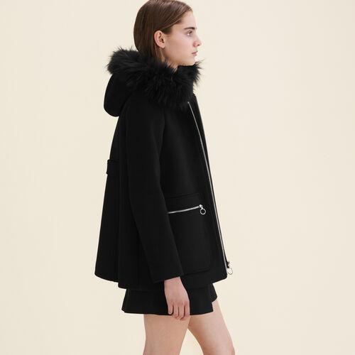 Mantel mit gemusterten Reißverschlüssen : Manteaux farbe Grau