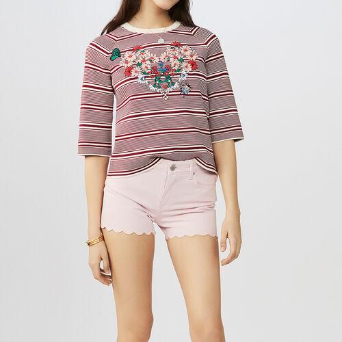 Jeans-Short mit edlen Schnitten : Röcke & Shorts farbe Rosa