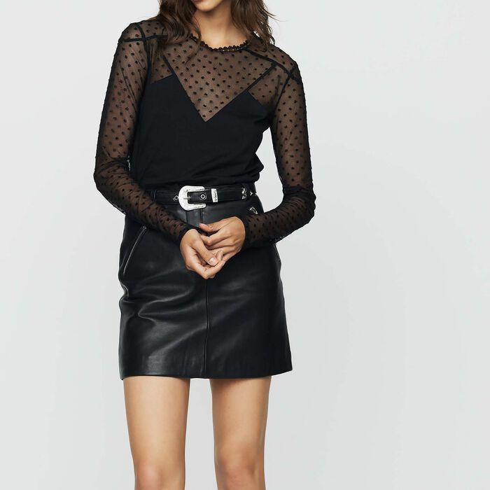 T-Shirt aus Baumwolle und Federn : T-Shirts farbe Schwarz