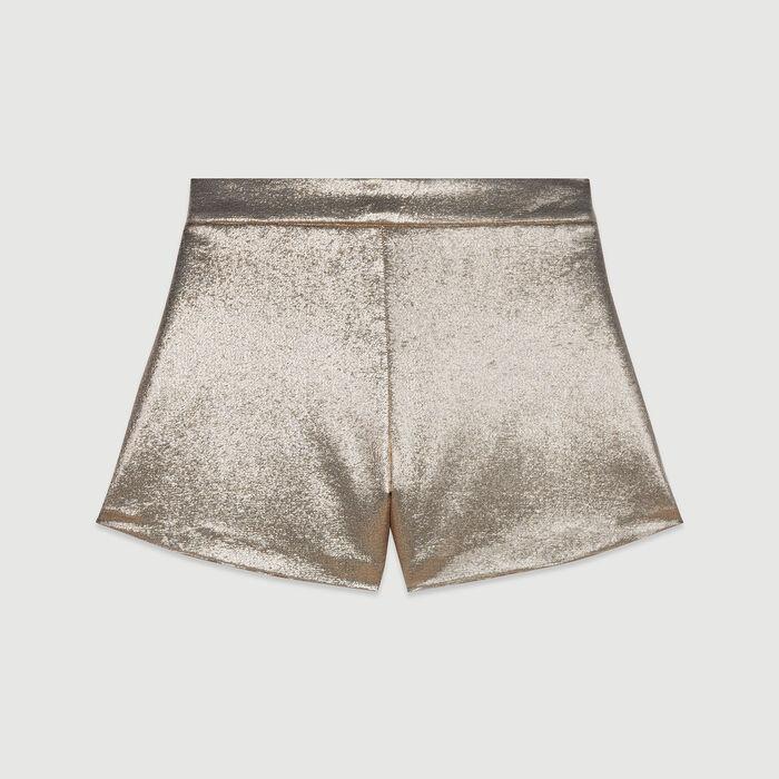 Lurex silk shorts : Alles einsehen farbe Gold