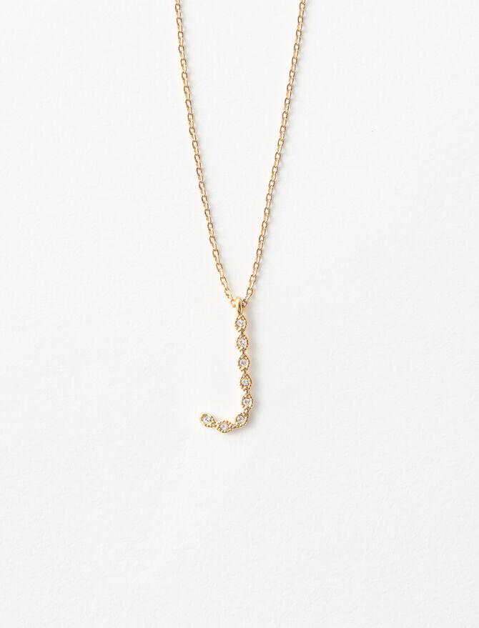 Halskette J mit Strass -  - MAJE