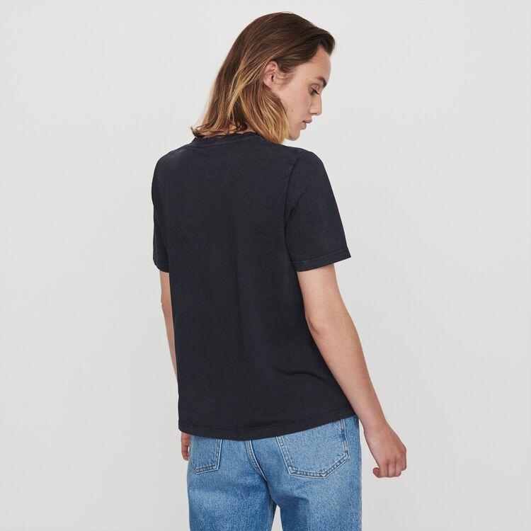 T-Shirt mit Strass : T-Shirts farbe Anthrazit