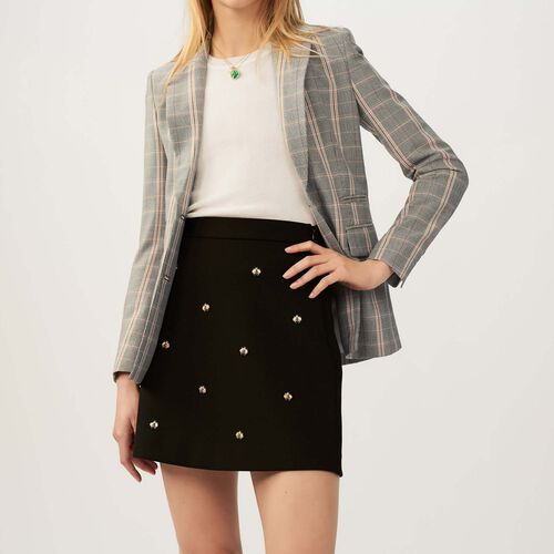 Rock mit aufgestickten Bienen : Röcke & Shorts farbe Schwarz