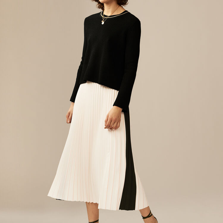 Long pleated skirt : Röcke & Shorts farbe ECRU
