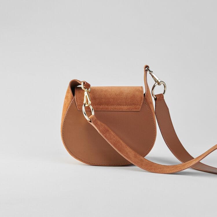Suede fringe Gyps handbag : Winter Kollektion farbe Kognak
