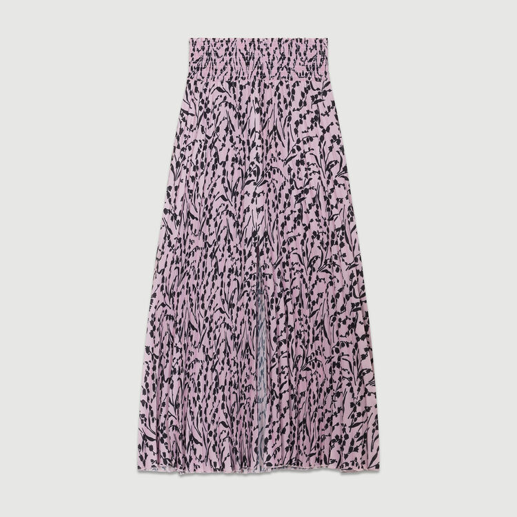 Printed pleated skirt : Röcke & Shorts farbe IMPRIME