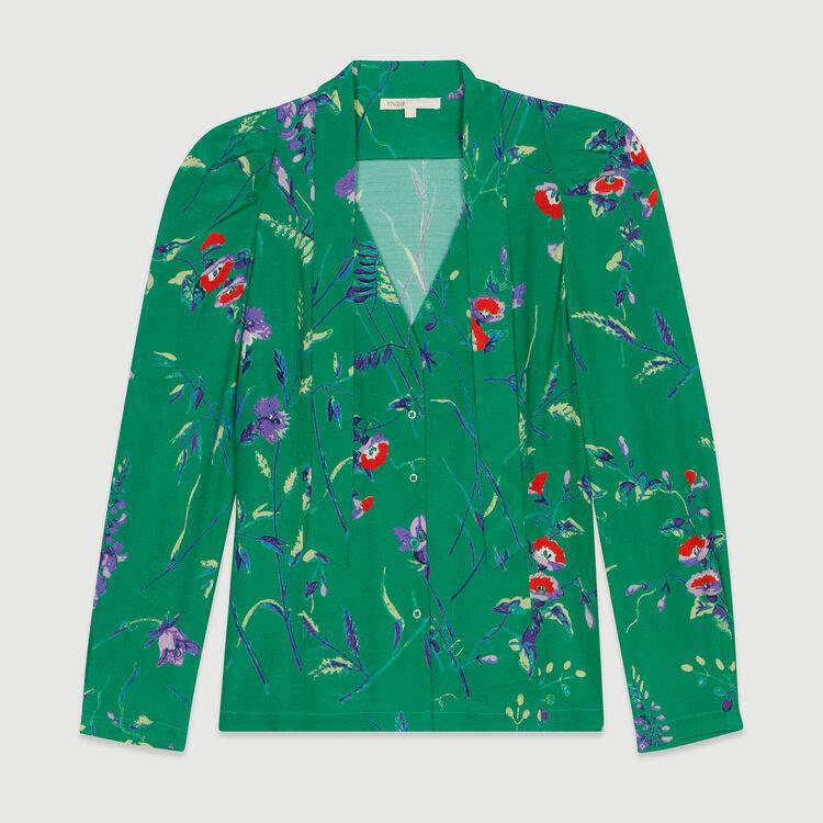 Lavalliere-Bluse mit Print : Tops & Hemden farbe IMPRIME
