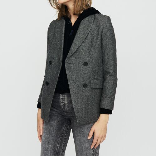 Blazer aus Mischwolle : Blazers farbe Grau