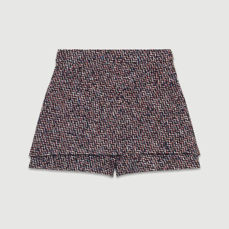 Tweed-Short mit Trompe-l'oeil-Effekt : Röcke & Shorts farbe Jacquard