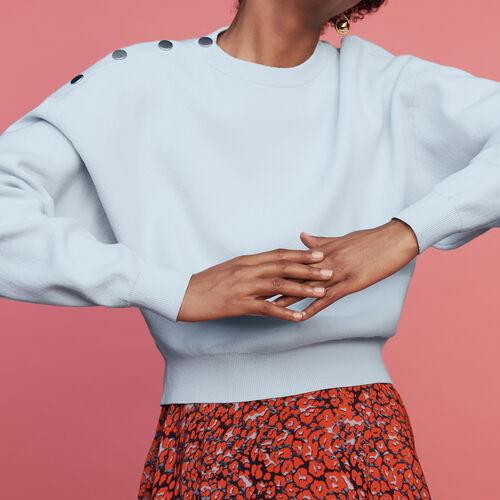 Pullover mit Schulterknöpfen : Bekleidung farbe ECRU