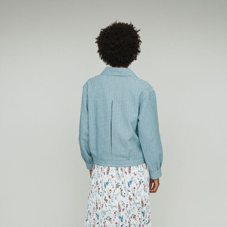 Blouson aus Leinen-Natté : Mäntel & Jacken farbe Blau