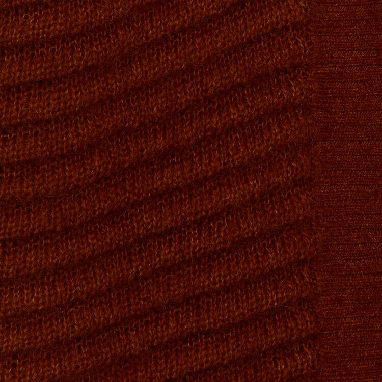 Mohair- und Alpaka-Cardigan : Strickwaren farbe Karamell