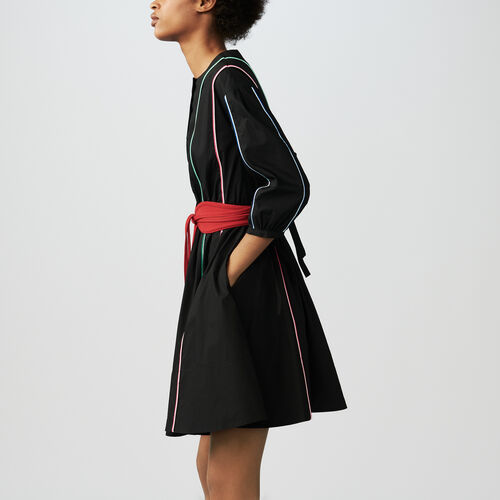 Belted dress : Alles einsehen farbe Schwarz