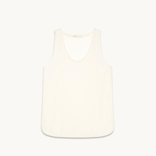 Ärmelloses T-Shirt aus Crêpe - Tops - MAJE
