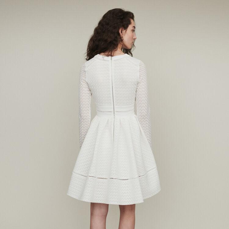 Skaterkleid aus Spitze : Kleider farbe Weiss