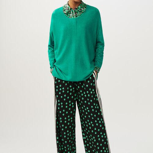 Oversize-Pullover aus Seide und Kaschmir : Strickwaren farbe VERT