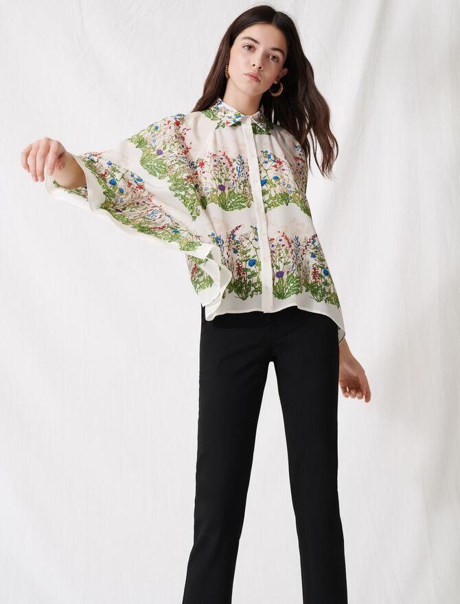 Oversize-Bluse mit Blumenprint -  - MAJE