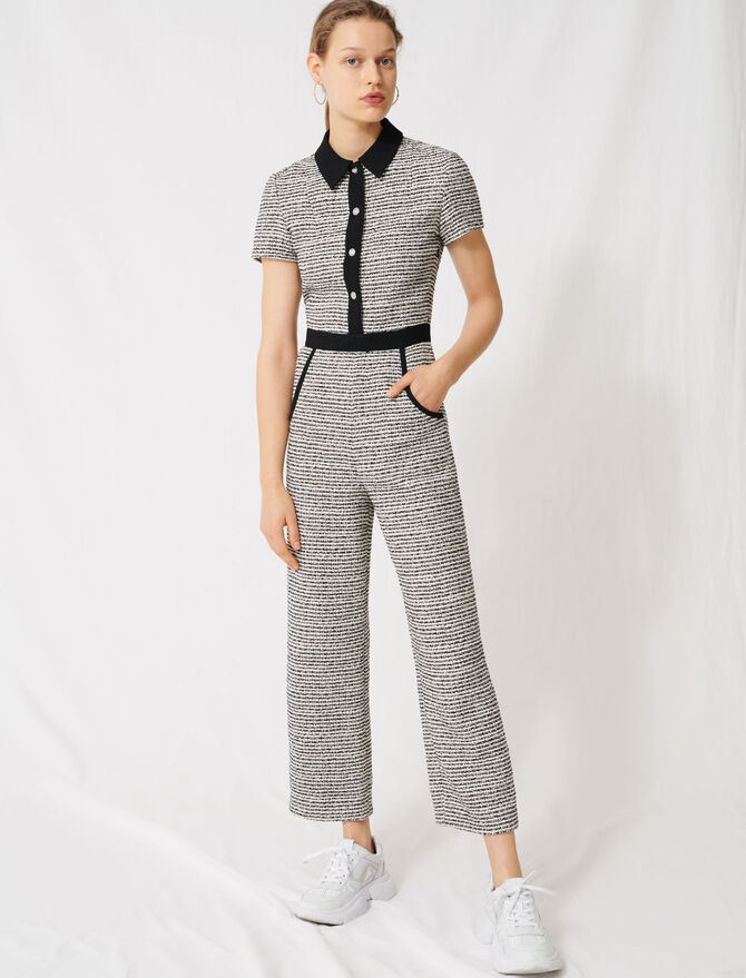 Jumpsuit im Tweed-Stil - Jumpshort & Jumpsuit - MAJE