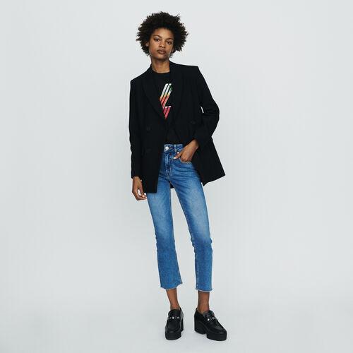 Blazer mit Knöpfen : Blazers farbe Schwarz