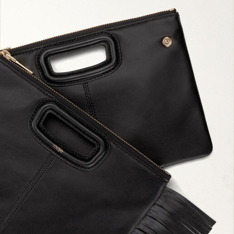 M-Duo-Clutch aus Leder : M Duo farbe Schwarz