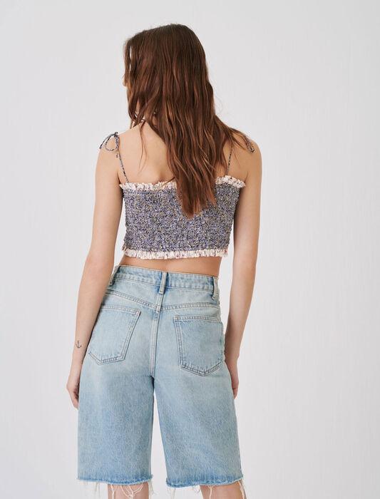 Gerade geschnittene Jeans-Bermudas : Röcke & Shorts farbe Hellblau