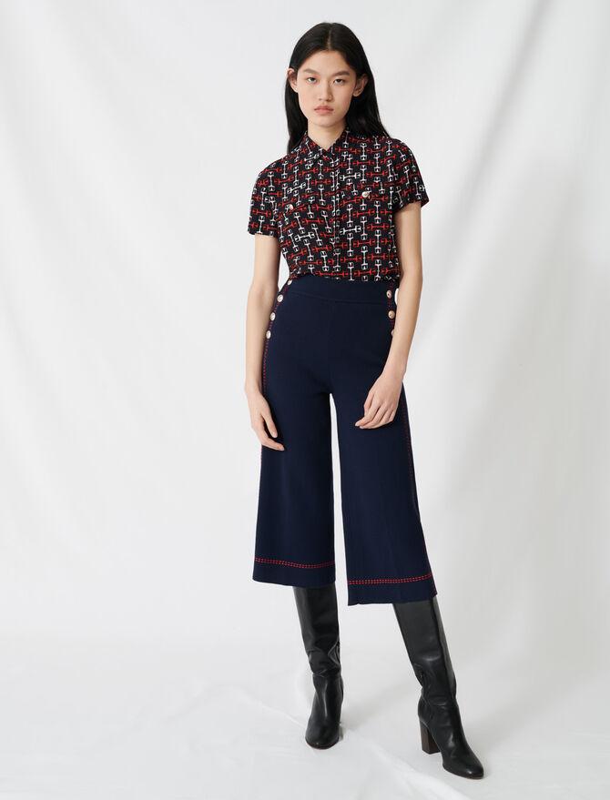 Ausgestellte Hose mit Ziernähten - Hosen & Jeans - MAJE
