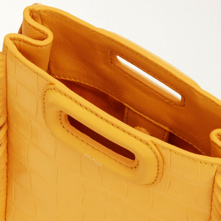 Mini-M-Tasche aus Krokodilleder : M Mini farbe Gelb