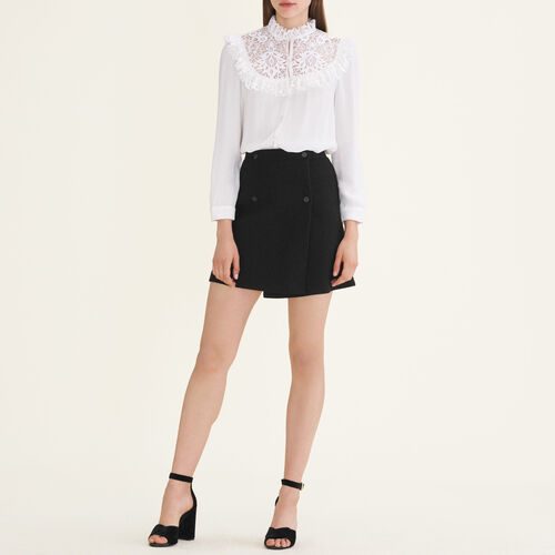 Falda con faldón : Jupes & Shorts farbe Schwarz