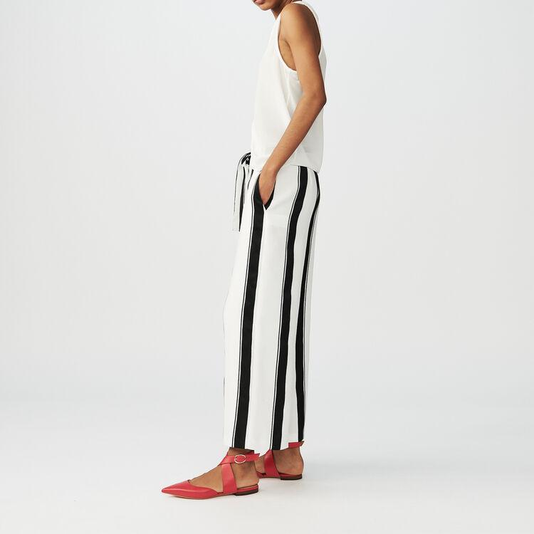 Weite gestreifte Hose : Hosen farbe Gestreift