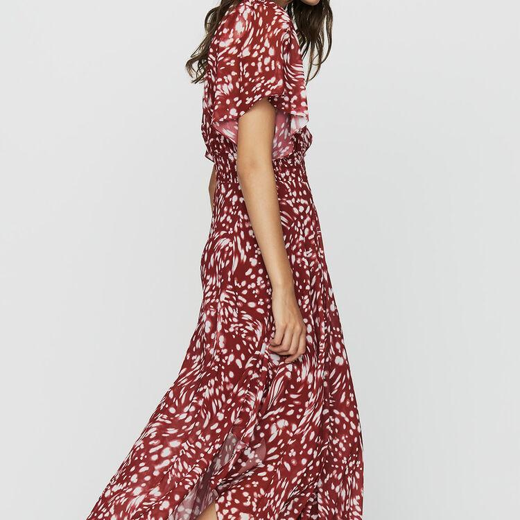 Langes asymmetrisches Print-Kleid : Bekleidung farbe IMPRIME