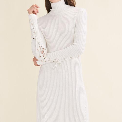Langes Schlauchkleid aus Strick - Kleider - MAJE